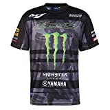 Monster Tech3 18T3M-AOPT-M, T-Shirt Uomo, Nero/Verde, M