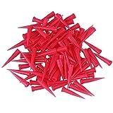 100pièces en plastique rouge Seringue Seringue aiguille conique pour calibre 25TT Blunt Colle liquide