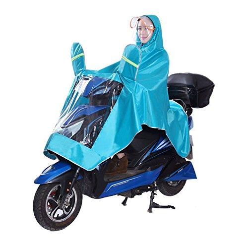 singolo in tessuto Oxford impermeabile bici elettrica Outdoor Field zaino copertura doppia cappello poncho aumento ispessimento Ride poncho motorino impermeabile Outdoor trekking campeggio unisex