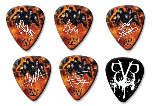 Black Veil Brides Set of 6 Loose Gitarre Plektrum Plektron Picks ( Collection E ) Black Veil Brides-instrumente