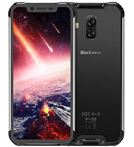 Blackview BV9600 PRO - Spitze Outdoor-4G-LTE-Smartphone ohne Vertrag (2019), 19: 9-FHD-AMOLED-Display, Helio P60 6 GB + 128 GB, wasserdicht/staubdicht mit IP68- /IP69K-Zertifizierung - Silber