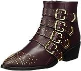 GARDENIA COPENHAGEN Damen Anella Biker Boots, Rot (Baby Calf Barcelona Bordeaux), 38 EU