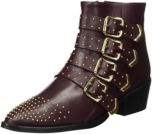 GARDENIA COPENHAGEN Damen Anella Biker Boots, Rot (Baby Calf Barcelona Bordeaux), 41 EU
