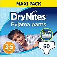 Huggies DryNites hochabsorbierende Nachtwindeln bei Bettnässen, für Jungen 3-5 Jahre, 2er Pack (2 x 3 x 10 Stück)