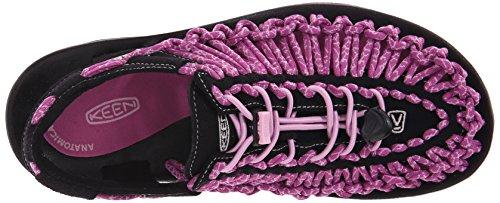 Keen Uneek 8mm Rock, Sandales de Randonnée Femme, Bleu, 10 US Violet (Black/Lilac Chiffon)