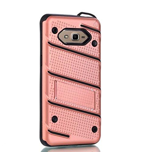 EKINHUI Case Cover Ultra Thin Slim Dual Layer PC + Soft TPU Back Schutzhülle Case [Shockproof] mit Kickstand für Samsung Galaxy G530 ( Color : Rosegold ) Rosegold