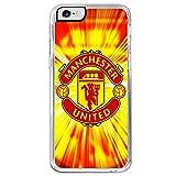 Idees Cadeaux Coque Case Logo Motif Design Fire feu Equipe de Football Manchester United Champion League Compatible iPhone 5C.