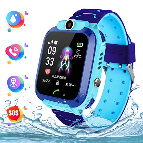 Smart Watch Telefono para Estudiante Niños, IP67 Impermeable Reloj, AGPS/LBS localizador Reloj...