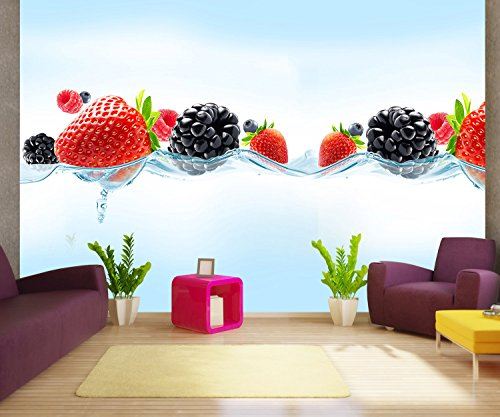 foto-mural-primer-plano-de-bayas-frescas-agradables-papel-tapiz-no-tejido-xxl-l-300-x-210-cm-6-tiras