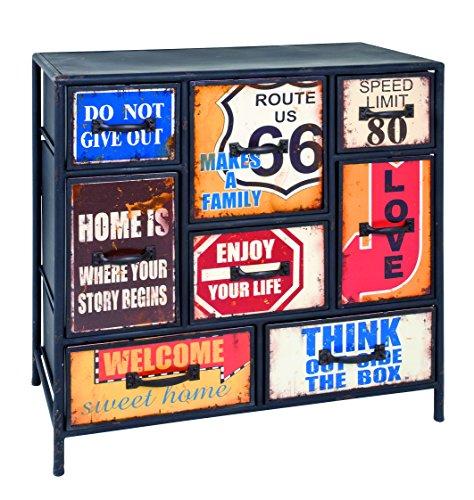 Haku 27952 Commode Métal Vintage 80 x 40 x 82 cm