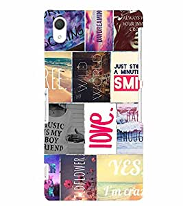 PrintVisa Corporate Print & Pattern Quotes 3D Hard Polycarbonate Designer Back Case Cover for Sony Xperia Z2