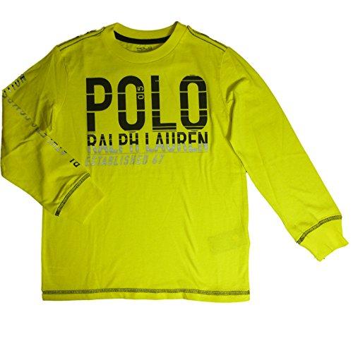 ralph-lauren-polo-enfants-langarmt-manches-courtes-garcon-jaune-onglet-logo-110