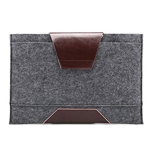 Hemotrade 12,9 Zoll IPad Pro12 Zoll Air Wasserdichte Laptop Schutzhülle Kompatibel 13 Zoll 2018 Pro 15 Zoll 2018 Pro Bag Tragetasche (Color : Dark Grey, Size : 12.9 inch iPad Pro)