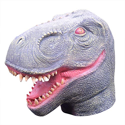 TIREOW Comical Halloween Party Kostüm Cosplay Maske Maskerade Dinosaurier Tierkopf Masken Für Jugendliche Erwachsene Männer Frauen (Einfache Für Jungs Sehr Halloween-kostüme)