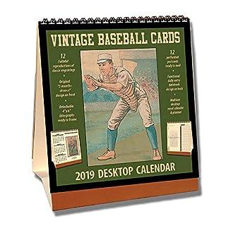 Vintage Baseball Cards 2019 Desktop Calendar