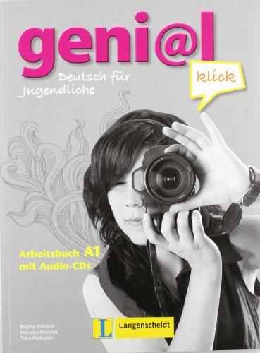 Geni@l klick a1 arbeitsbuch per la scuola media con cd audio: genial klick a1 libro de ejercicios con 2 cd de audio