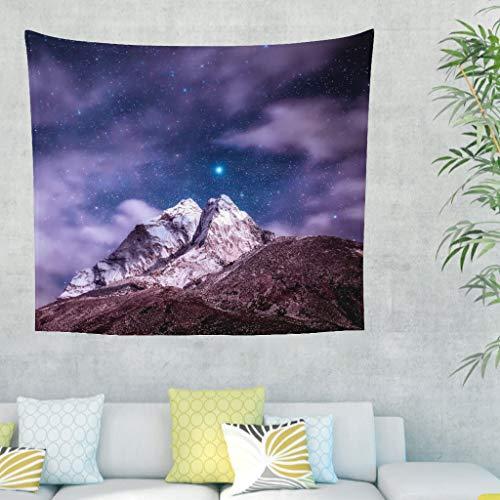 Psychedelische Wandteppich Himalaya Gebirgsteppich Sternenhimmel Fantasie Nacht Böhmische Mandala Haus Kunst Wandbehang Tapisserie Für Schlafzimmer Wohnheim white 79x59inch