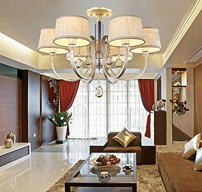 OOFAY LIGHT Europ?ischen morden kreative Eisen- crytal Kronleuchter mit 6 Licht für Esszimmer Wohnzimmer Schlafzimmer von Deckenleuchte 514 - Lampenhans.de