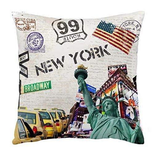 Kissenbezug, Retro, Vintage, New York City, Baumwolle,