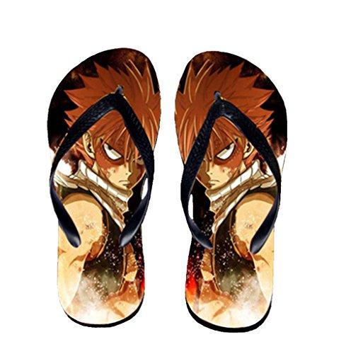 Bromeo Fairy Tail Anime Unisex Flip Flops Zehentrenner Flip Pantoffeln 6
