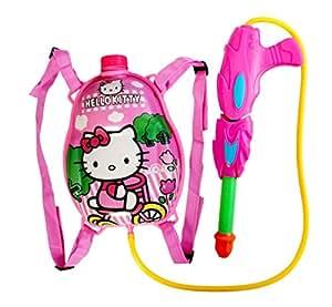 Gifts Online Pressure Water Gun Pichkari with Tank, Holi (Pink, 1.25 L) - Get Organic Gulal FREE!!