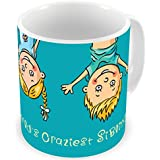 Illuminati Gifts World'S Craziest Siblings Funny Design Beautiful Design Printed Multicolor Ceramic Coffee Mug - 325 Ml Rakhi Raksha Bandhan Gift For Brother/Sister, Rakshabandhan Return Gift For Sister