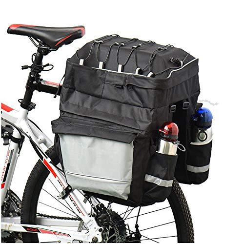 FDSEQ Mountainbike DREI-in-Eins-Tasche Gepäckträger-Tasche wasserdichte Fahrrad-Satteltasche Reise-Fahrradtasche