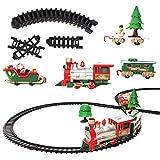 Set treno elettrico - 22 pezzi, ideale per regali di Natale. Giocattolo perfetto per bambini, con suoni realistici