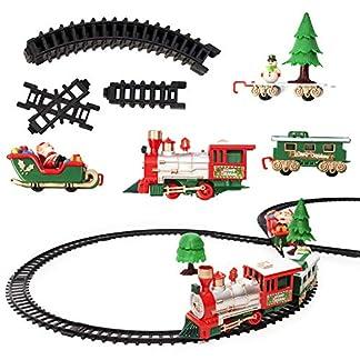 Juego de Tren Eléctrico – 22 piezas, ideal para regalo de Navidad, juguete favorito para niños con sonidos realistas.