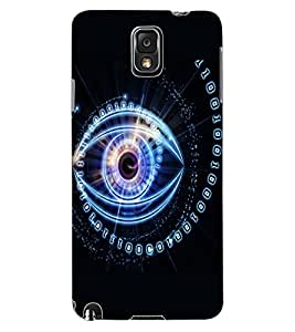 ColourCraft Digital Eye Design Back Case Cover for SAMSUNG GALAXY NOTE 3
