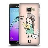 Head Case Designs Crazy Cat Lady Gründe Warum Ich Single Bin Ruckseite Hülle für Samsung Galaxy A3 (2016)