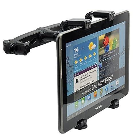 KFZ Auto Kopfstützenhalterung Kopfstützenhalter Kopfstützen Halterung Einstellbare Halter Sitzhalterung Sitzhalter Car Holder Mount für portabler tragbarer DVD Player Philips PET723 / NextBase SDV47-AM / MEDION P72027 MD84106 / MEDION LIFE E72037 MD82767 / ODYS DUO Seal Twin / Lenco MES-217 MES-403 / AEG DVD 4549 4533 4551 4552, Apple iPad 2/3/4/Mini/Air, Samsung Galaxy Tab, Google Nexus und andere Tablets