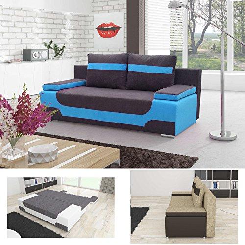 Modern Blau Schlafsofa (Sofa Area in blau/grau, Farbe wie abgebildet)