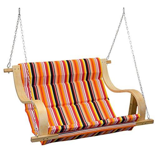 Balancin de jardin | cubierto con tela en rayas de colores |...