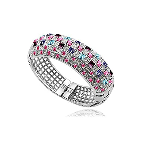 Bracelet Blue Pearls - Blue Pearls-Bracelet Bangle en Cristal de Swarovski