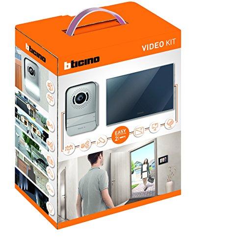 BTicino 317013 Kit Videocitofono 2 Fili Finitura Specchio Mono/Bifamigliare