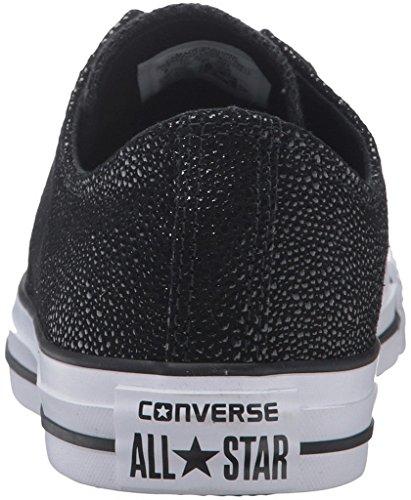 Converse Chucks 553349C CT AS Sting Ray Cuir Noir Noir Blanc METALLIC BLACK