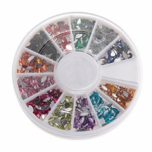 FACILLA® 300pcs Strass Ovale Déco pour Ongles Faux Naturels Manucure Nail Art 2mm
