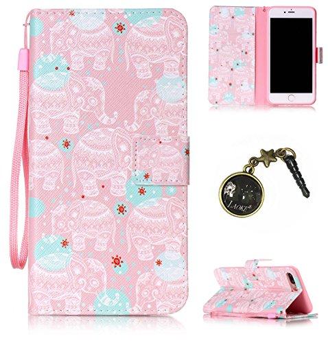 PU Cuir Coque Strass Case Etui Coque étui de portefeuille protection Coque Case Cas Cuir Swag Pour Apple iPhone 7 Plus (5.5 pouces) +Bouchons de poussière (7OO)
