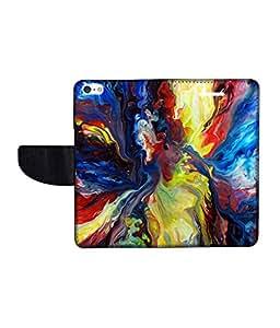KolorEdge Printed Flip Cover For Apple IPhone 5 Multicolor -(43KeMLogo12447IPhone5)
