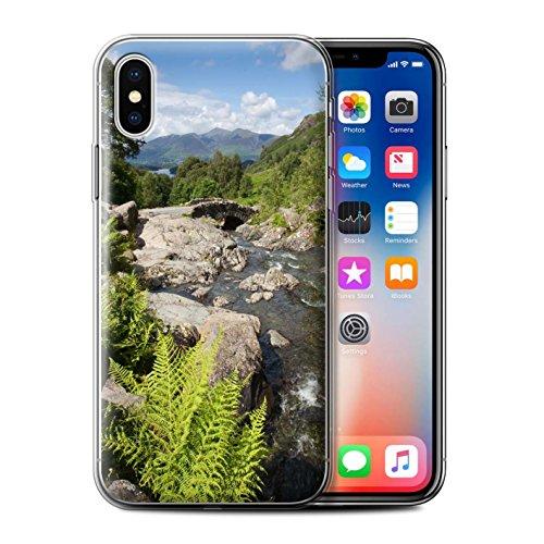 Stuff4 Gel TPU Hülle / Case für Apple iPhone X/10 / Felsigen Stream Muster / Wasserfälle Kollektion Brücke