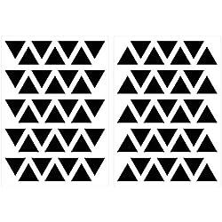 Wandtattoo Kinderzimmer Wandsticker Set Schwarze Dreiecke Stück geometrische Fo