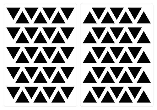 dekodino Wandtattoo Kinderzimmer Wandsticker Set Schwarze Dreiecke Stück geometrische Fo