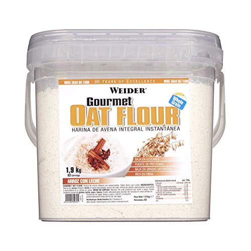 Weider Oat Gourmet Farina Integrale di Avena Sapore Riso e Latte 1.9 kg