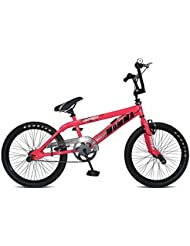 Rooster Big Spoked Girls BMX Bike Gyro 360 (Pink)