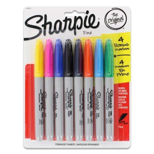 sharpie-pennarelli-indelebili-punta-fine-colori-assortiti-confezione-da-8