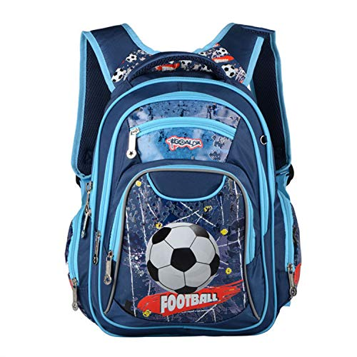 Mochila Escolar para niños, Mochila Principal para niños, Mochila práctica para el día Azul Azul 38x28x14cm/14.97x11.03x5.52