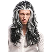 WIG ME UP ® - 29938B-ZA103-ZA60 Peluca Hombres Mujeres Carnaval Halloween Gris