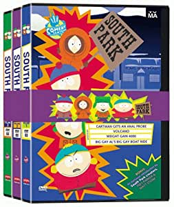 south park volumes 1 3 import usa zone 1 dvd blu ray. Black Bedroom Furniture Sets. Home Design Ideas