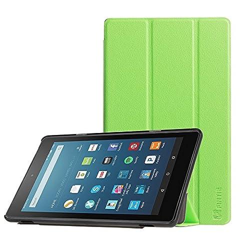 Fintie Hülle für Fire HD 8 2016 - Ultra Slim Lightweight Schutzhülle Smart Cover mit Standfunktion und Auto Schlaf / Wach Funktion für das neue Fire HD 8 Tablet (6. Generation - 2016 Modell),